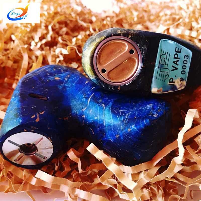 Newest Fashion Single 18650 Battery Colorful Stable wood metal 2200mah X Pipe Mech Mod 510 Electronic Cigarette RDA RBA RDTA