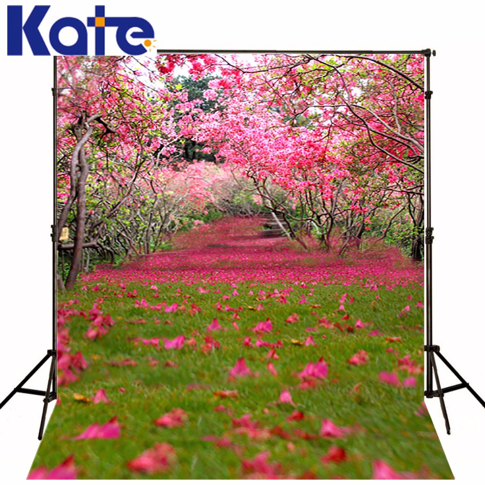 10X10FT Kate Spring Scenery Photography Backdrops Pink Flower Photography Background for Studio Photo Flower Wedding backdrops kate flower wall pink backdrop romantic wedding photography backdrops spring photography backdrops large size seamless p