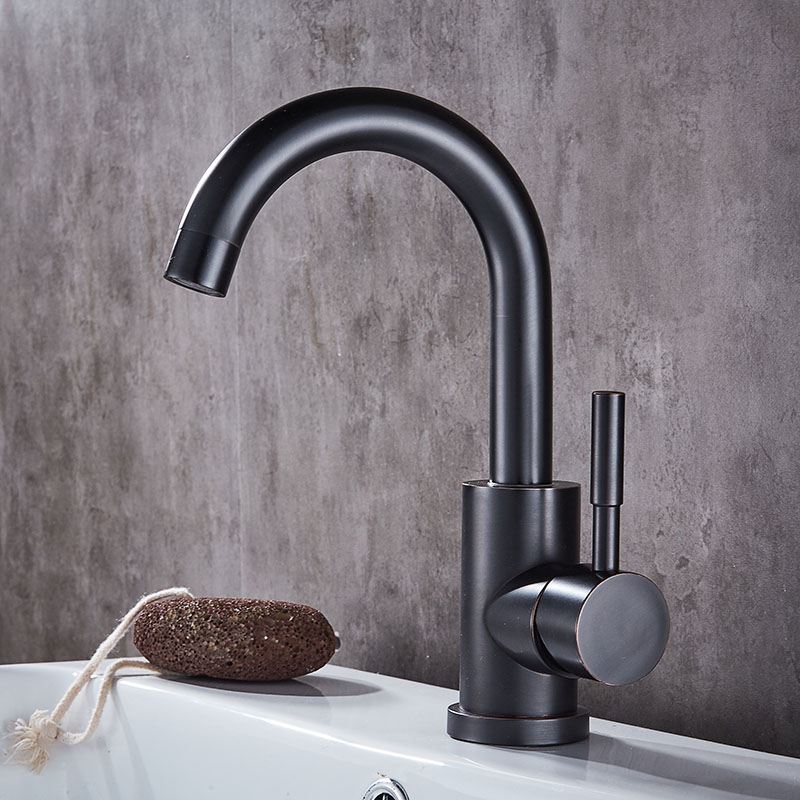 Free Shipping Black Bathroom Faucet Cold Hot Mixer Tap Cold Hot Water Taps Oil Rubbed Bronze Lead Free Quality Stainless Steel free shipping of 1pc hss 6542 full cnc grinded machine straight flute thin pitch tap m37 for processing steel aluminum workpiece