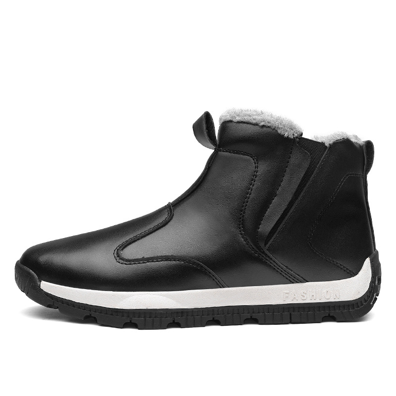 Winter Men Snow Boots Outdoor Waterproof Running Shoes Men Sneakers High To Help Flat Training Trekking Tactics Walking Shoes