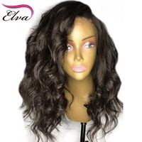 180% Density 360 Lace Frontal Wig Pre Plucked Brazilian Short Human Hair Wigs With Baby Hair Remy Elva Hair Bob Wig For Women