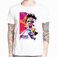 Michael Jackson MJ Unisex Adults T Shirts 2019 Vintage Style White Tops Music Tees Cotton Summer Soft O Neck Men T Shirts все цены