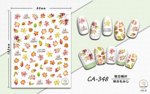 Image 4 - 1 Sheet Nail Art 3D Decals  Maple Leaves Autumn Theme Nail Sliders Decor Tips Leaf Sticker For Nail Art