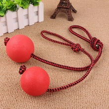Hot 1pc Solid Rubber Dog Chew Training Ball with Rope Pet Puppy Playing Toy