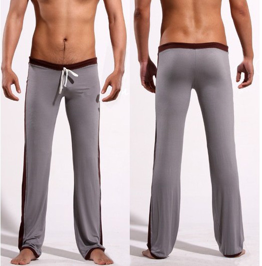 23bf089164537 Low-waist sexy male lounge pants trousers casual trousers yoga pants pajama  pants fit hot men gray coffee
