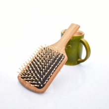 Natural Bamboo Wood Paddle Brush Wooden Hair Care Massage Comb Anti-static Comb 1pcs Hairs Beauty Tools SY15D5