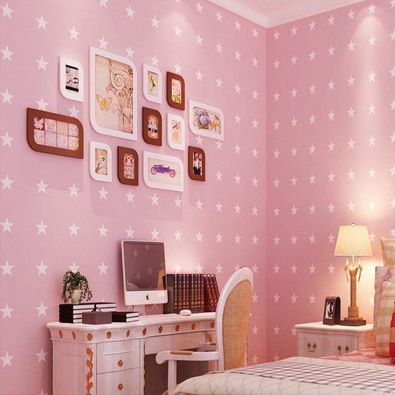 rosa sterne tapete-kaufen billigrosa sterne tapete partien aus ... - Rosa Tapete Kinderzimmer