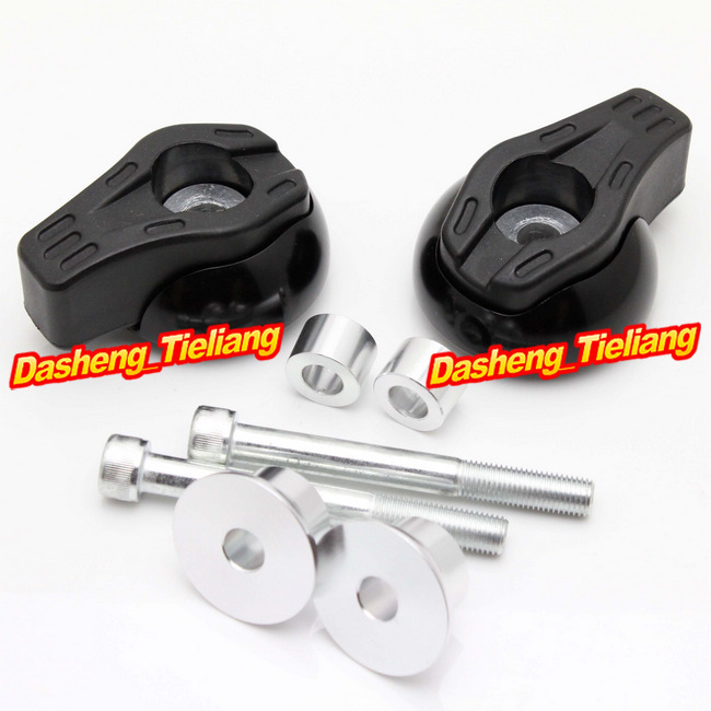 For Yamaha FZ6R 2009 2010 2011 2012 Frame Sliders Crash Pads Protector, Motorcycle Spare Parts Accessories, Black Color motorcycle frame sliders crash engine guard pad aluminium side shield protector for kawasaki ninja zx6r 636 2009 2010 2011 2012
