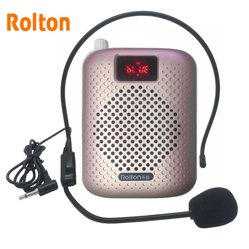 Rolton K500 Bluetooth Loudspeaker Mikrofon Suara Amplifier Booster Speaker Megaphone Menyokong radio FM TFCard Mp3 Player