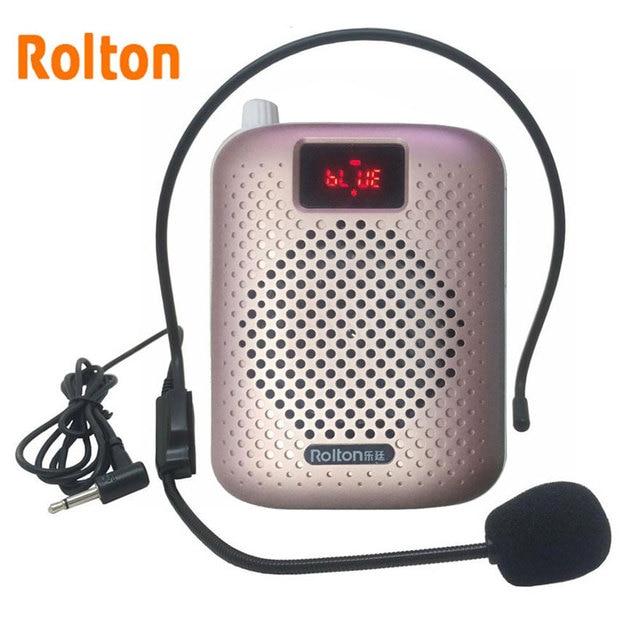 Rolton K500 Bluetooth Loudspeaker Microphone Voice Amplifier Booster Megaphone Speaker Supports FM radio TFCard Mp3 Player