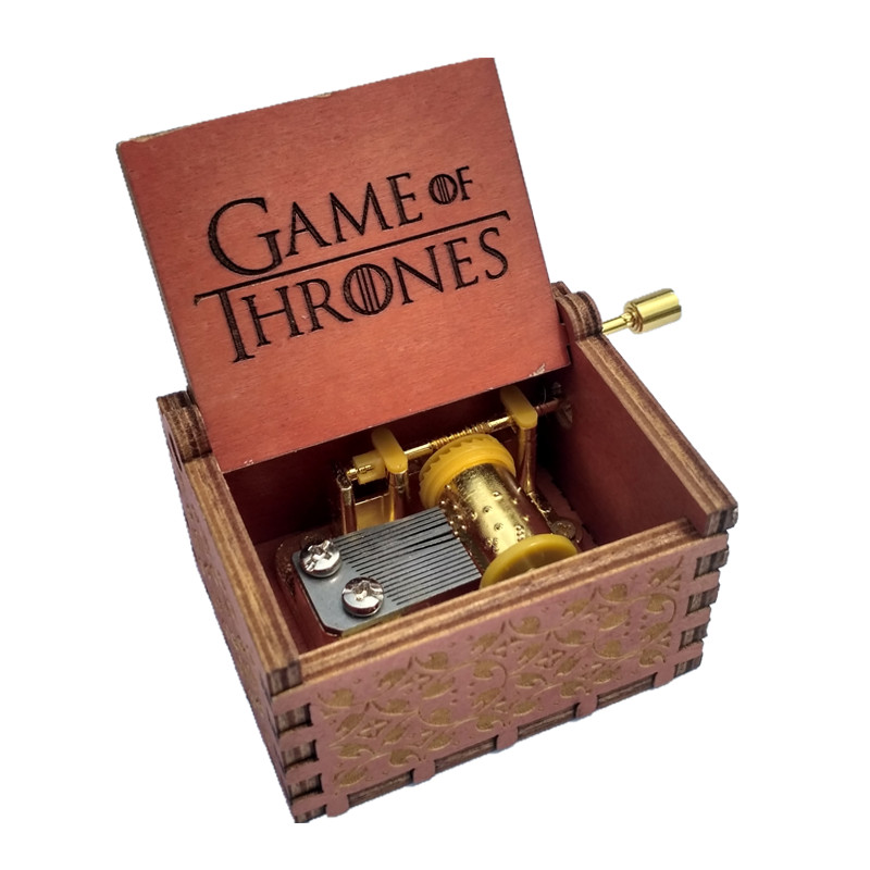 Game of thrones Wooden Music Box gift for Chirstmas happy birthday new year gift children gift