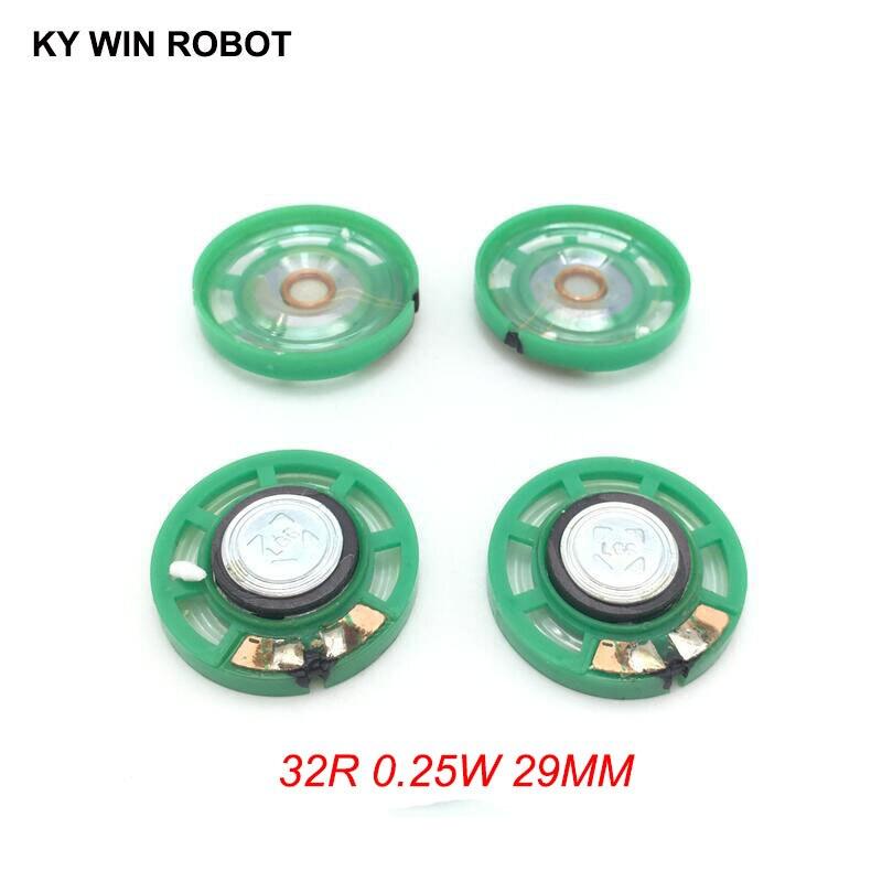 5pcs/lot New Green Ultra-thin Mini Speaker 32 Ohms 0.25 Watt 0.25W 32R Speaker Diameter 29MM 2.9CM Thickness 9MM