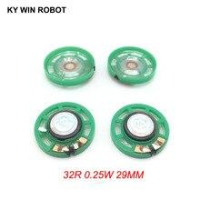 5pcs/lot New Green Ultra-thin Mini speaker 32 ohms 0.25 watt 0.25W 32R Diameter 29MM 2.9CM thickness 9MM