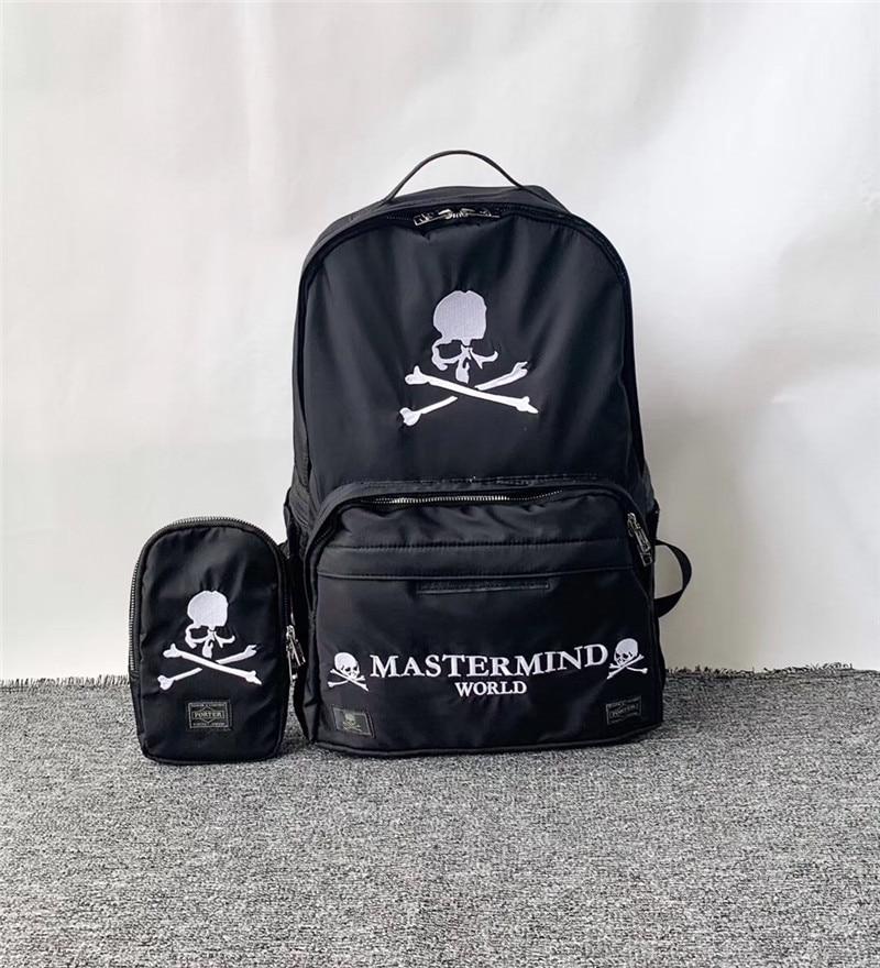 19ss Best Version New Japan Mastermind MMJ Skull Hiphop Shoulder Bag  Fashion Multifunction Bag
