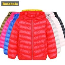 Balabala/куртки на утином пуху для мальчиков и девочек, модная детская одежда, зимняя куртка, плотная одежда для детей на 20 градусов ниже нуля