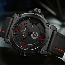 2017 New NAVIFORCE Sport Mens Watches Top Brand Luxury Waterproof Leather Quartz Watch Military Wristwatch Male Clock relogio