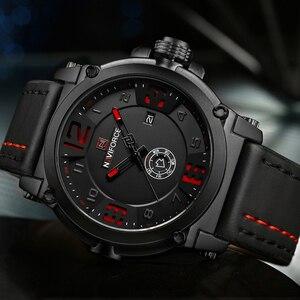 Image 4 - NAVIFORCE montre bracelet de Sport pour hommes, marque supérieure de luxe, en cuir étanche, à Quartz, style militaire, nouvelle collection 2020