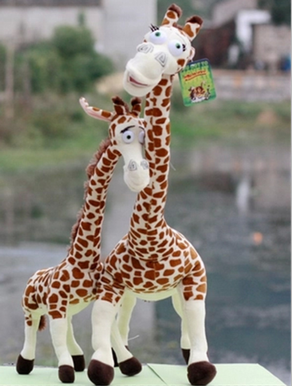 65 cm juguete de peluche de jirafa lindo Madagascar jirafas juguete para niños muñeca de juguete brinquedos regalo de cumpleaños