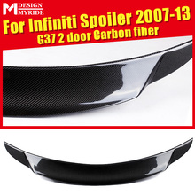 For infiniti G37 2-Door Rear Spoiler Tail High-quality Carbon Fiber Frunk Wing Lip car styling Auto Part 2007-2013