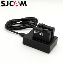 SJCAM M20 2PCS Rechargeable Li-ion Batteries + Dual battery Charger For SJ CAM M20 Sports Action Camera Accessories