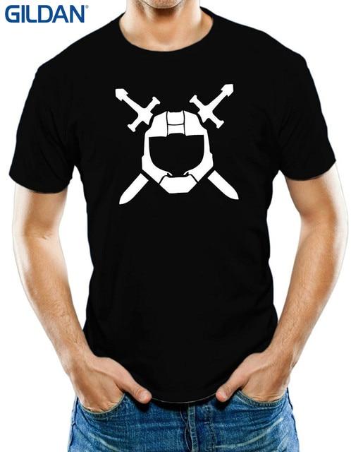 Gildan Top Tee 100 Cotton Humor Men Crewneck Tee Shirts Mens Halo