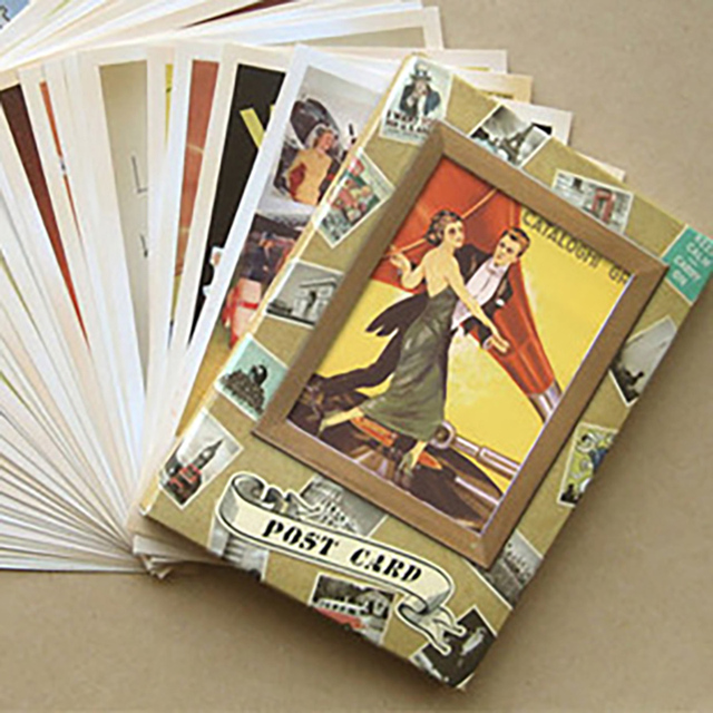 32 pcs Classic movie star Collector Retro Nostalgia Postcards Cartoon card  Carte Postale Office School Supplies-in Business Cards from Office & School