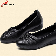 Candy Color Soft Bottom Flat With Round Leather Shoes Casual Non Slip Mother Shoes font b