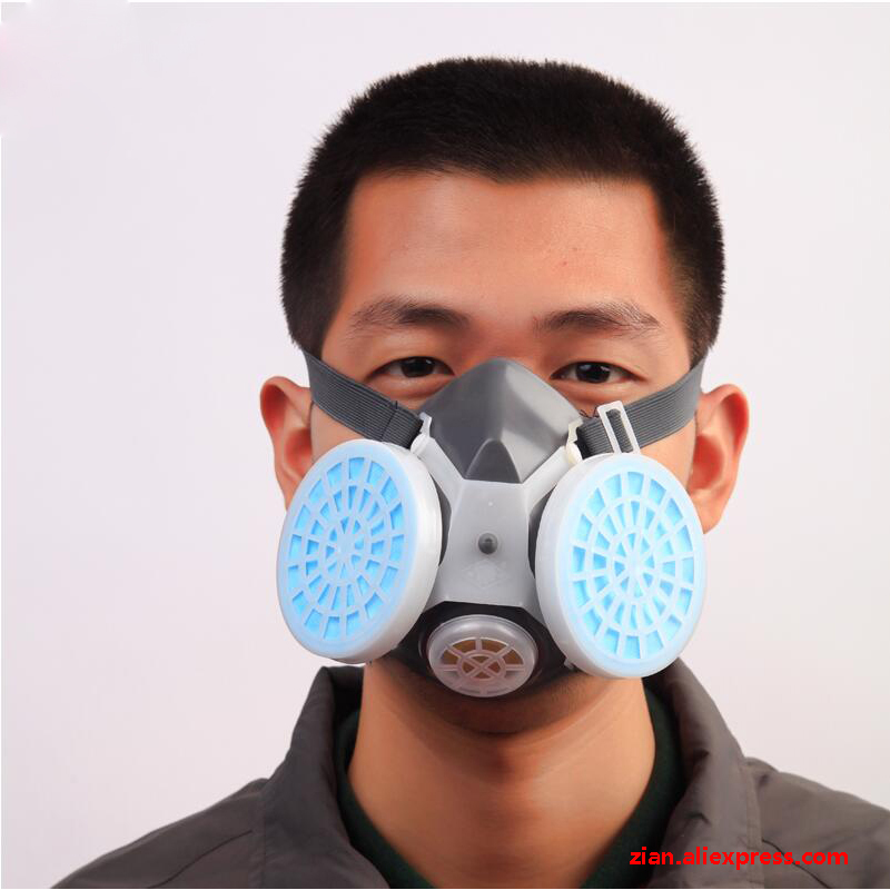 Dust Mask High Efficiency Protection Gas Mask Anti-fog Haze Industrial Anti Dust Mask Respirator Outdoor