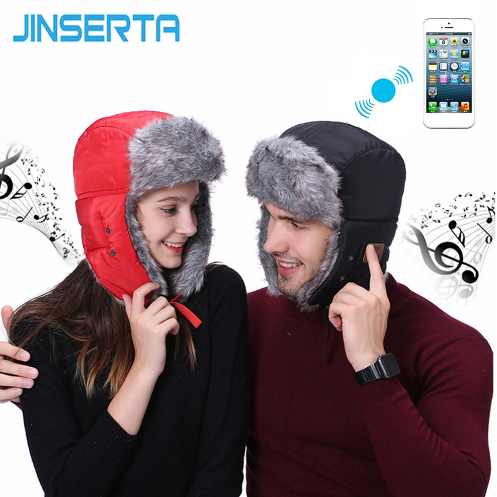 JINSERTA Winter MP3 Music Bluetooth Hat for Women Men Lover Hunting Cap Outdoor Hats+Windproof Facemask for Iphone 7 8 X Gifts winter beanies bonnet knit hat men winter hats for men women brand beanie skullies balaclava gorros outdoor ski sports hats 2017