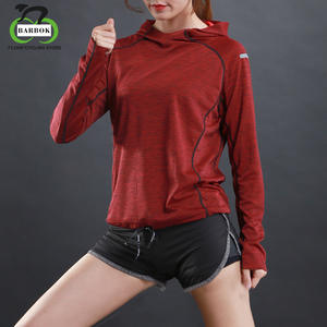 512ad9a538d11c BARBOK Women Long Sleeve Gym Dry Fit T shirt Red Green Gray Sports Hoodie  Jacket