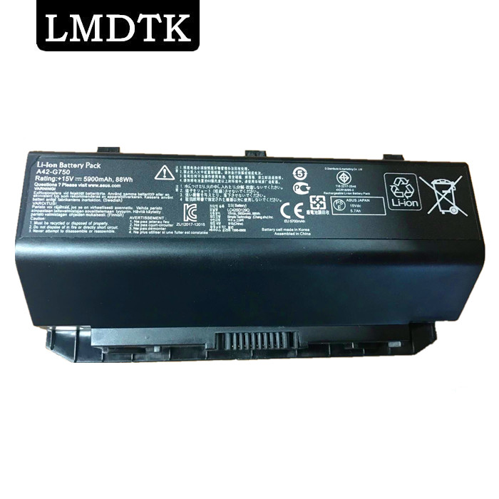 LMDTK New laptop battery FOR ASUS ROG G750 Series G750J G750JH G750JM G750JS G750JW G750JX G750JZ CFX70 CFX70J недорго, оригинальная цена