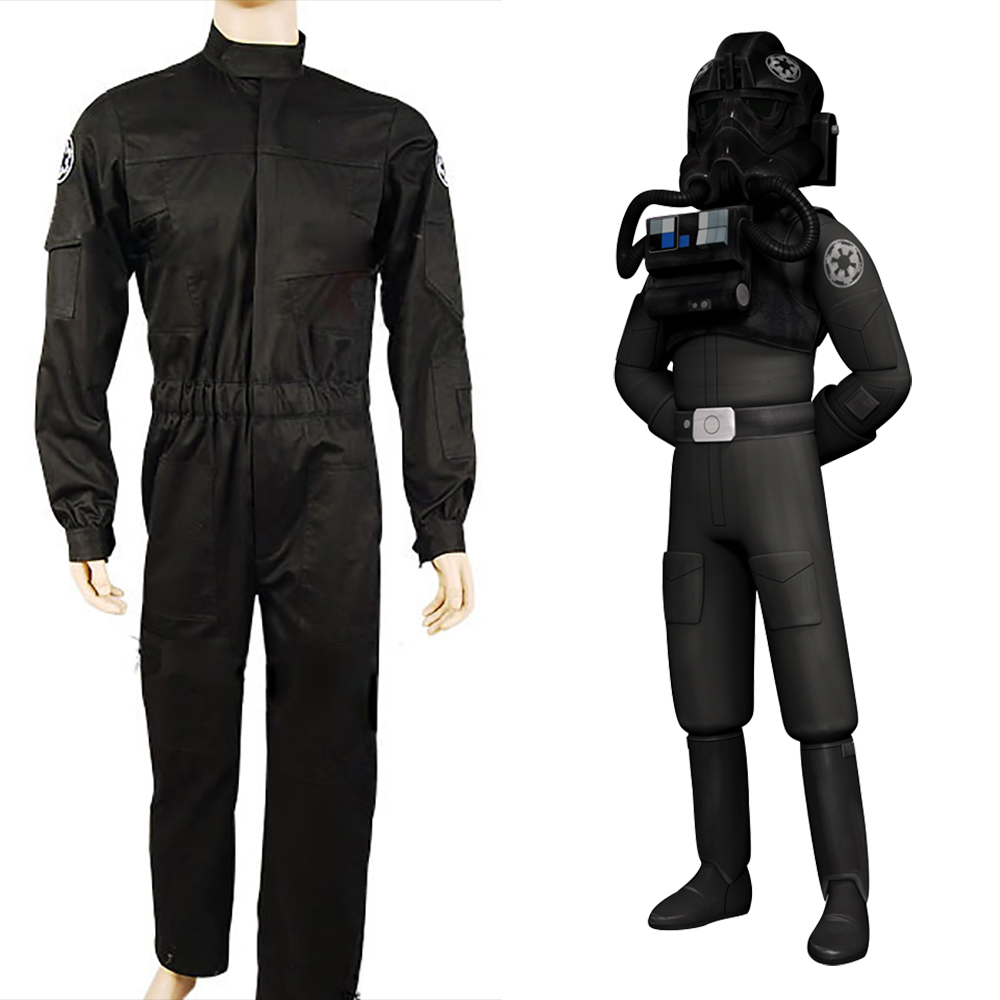 Star Wars Cosplay Costume Fighter Pilot Black Flightsuit Uniform Cosplay Costumes Halloween Carnival Party Cosplay Costumes