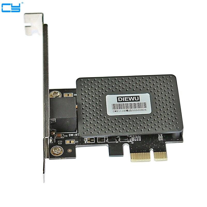 10/100/1000M Gigabit Network Ethernet Express PCI-E LAN Card Free Shipping RTL8111e PCI Exprss Gigabit Giga 10/100/1000Mbps