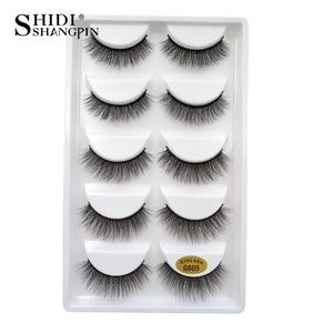 Image 2 - SHIDISHANGPIN 50 pairs natural long false eyelashes fluffy 3d mink lashes make up 100% cruelty free fake eyelash faux cils G805