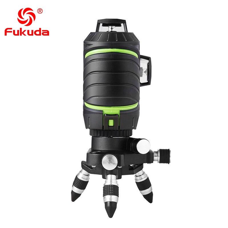 Фукуда бренд 12 линии 3D MW-93T-3GX лазерный уровень наливные 360 горизонтальный и вертикальный крест супер мощный зеленый лазер луч линии