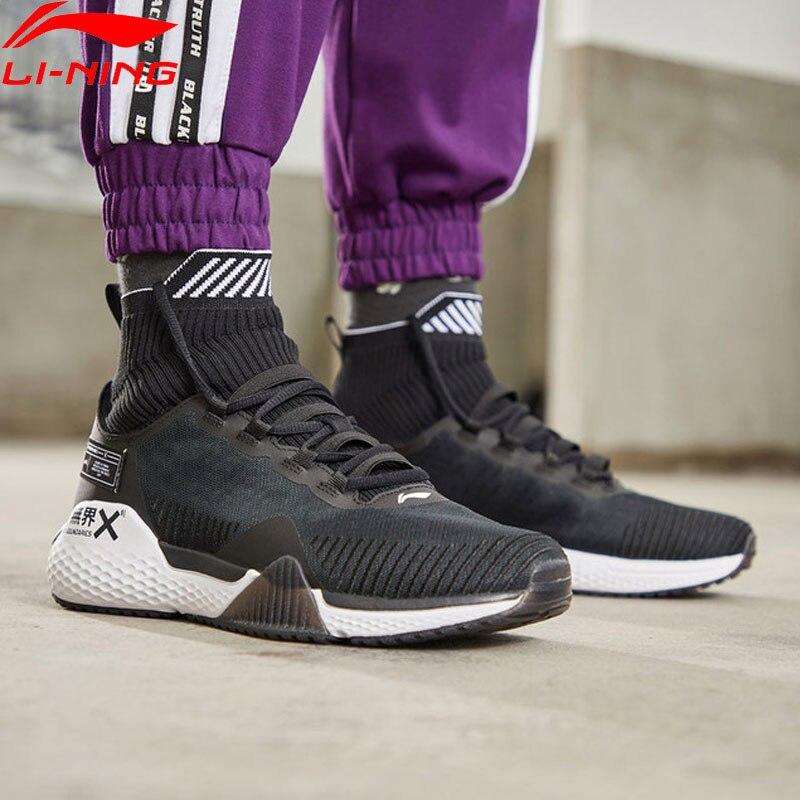 Li-Ning Men NO BOUNDARIES Training Shoes Cushion Mono Yarn Breathable High-Cut LiNing CLOUD Sport Shoes Sneakers AFJP003 YXX048