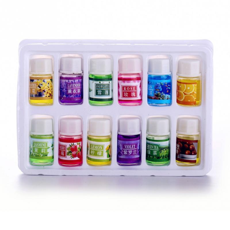 12pcs/set Car Essential Oils Car Natural Plant Essential Air Humidifier Freshener Water Soluble Perfume Oil CAR-partment