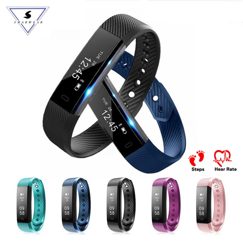 ID115 HR Smart Bracelet Heart Rate Monitor fitness Activity Tracker Smart Band Waterproof Wristbands For IOS Android VS Fitbit1