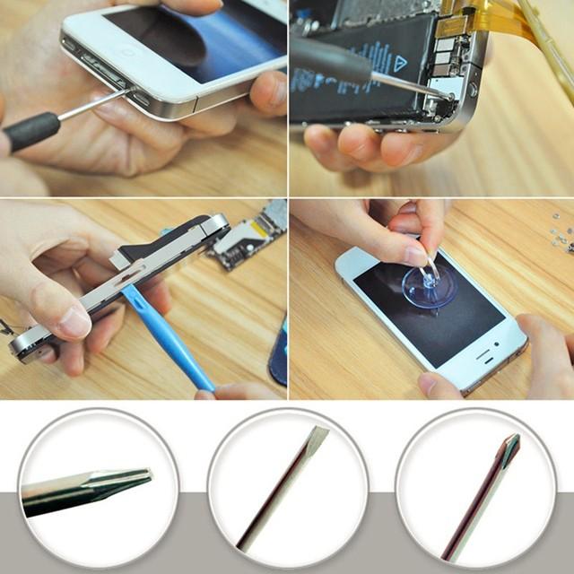 11 In 1 Cell Phones Opening Pry Mobile Phone Repair Tool Kit Screwdriver Set For Iphone Samsung Accessory Bundles Herramientas