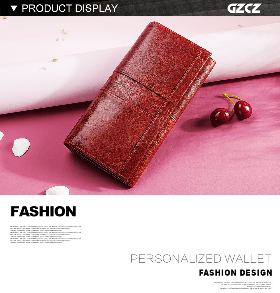 HTB1kGM7KMHqK1RjSZFPq6AwapXaP - GZCZ RFID Leather Women Clutch Wallet Fashion Long Style Female Coin Purse Portomonee Clamp For Phone Bag Ladies Handy Purse