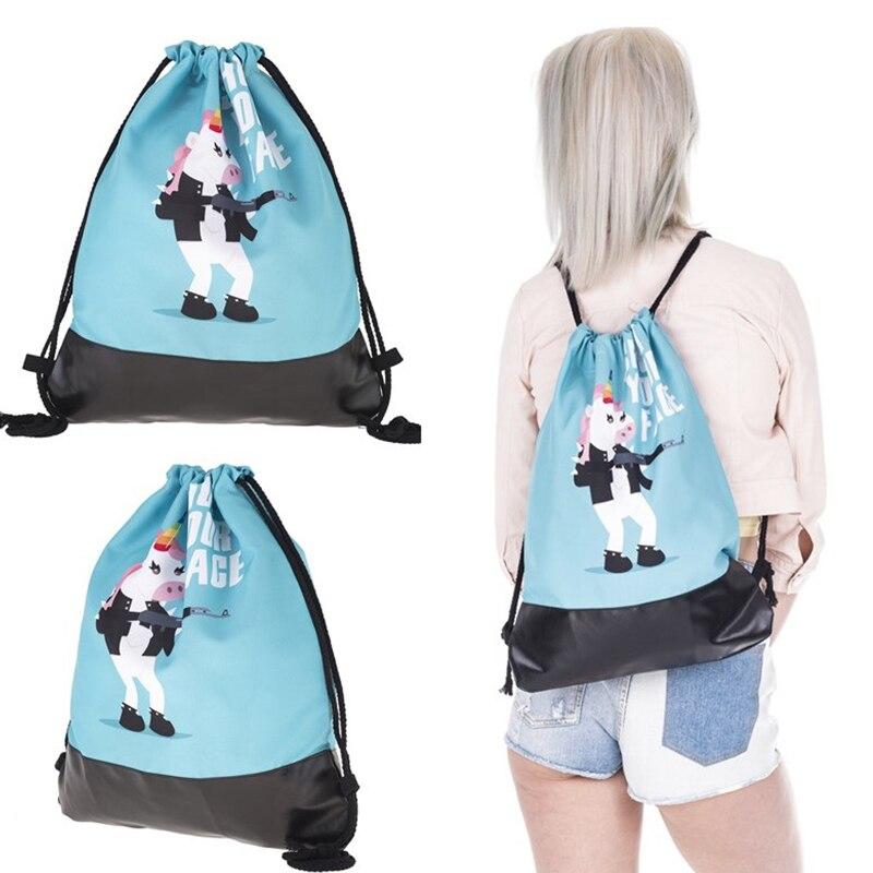 Children Girls Boys Unicorn Sports Gym Bag For Running Yoga Fishing Fitness Training Men Women Outdoor Climbing Cartoon Backpack