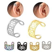 Clip-Earrings Ear-Cuff Jewelry Pendientes Gold-Silver-Color Starbeauty Women Fashion
