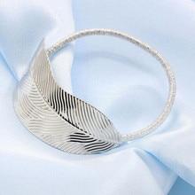 South Korea fashion style jewelry leaves hair elastic ring Korean ladies hair rope gold silver headdress flower