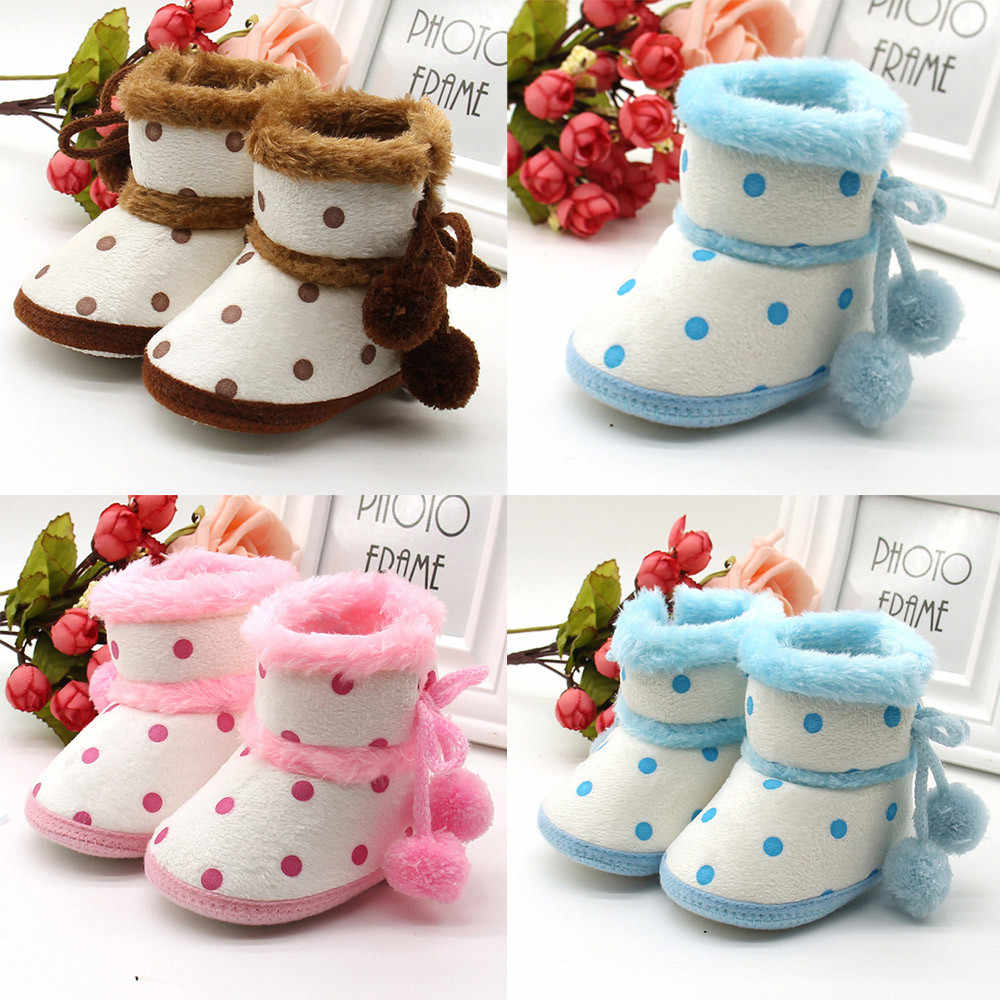2018 Tipsietoes Kids Shoes Baby Boots Leather Girl Boy Winter Copodenieve Shoes Baby Snow Boots Infant Booties Snow Warming