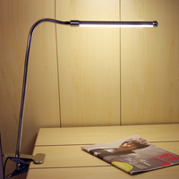 LED Desk Lamps With Clamp Iron Study Reading kerosene lamp 2 Level Touch Dimmer Silver luminaria led mesa Office Night Light T10