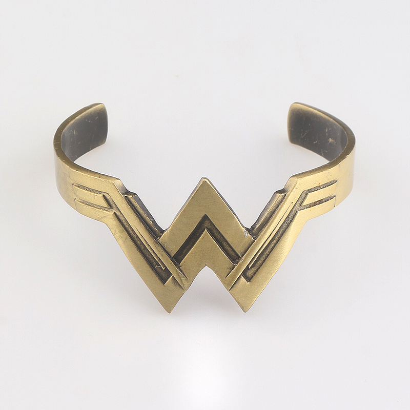 Hot Movie Wonder Woman Bangles & Bracelets Vintage Antique Bronze Super Hero Bangles for Women and Men