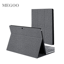 Megoo Surface Pro 6 Folio Case Stand Cover Compatible With Type Cover Keyboard For Microsoft Surface Pro 6/4/5/New Surface Pro