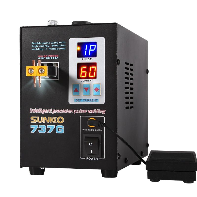 SUNKKO 737G Spot Welder Double Pulse Intelligent Precision Welding Machine For 18650 Lithium Battery Welding 1.5KW Spot Welders