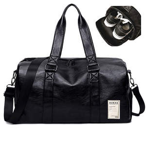 7f2a1c0afb Female Sport Shoe Bag for Women Black Red Pu Leather Gym Male Bag Top