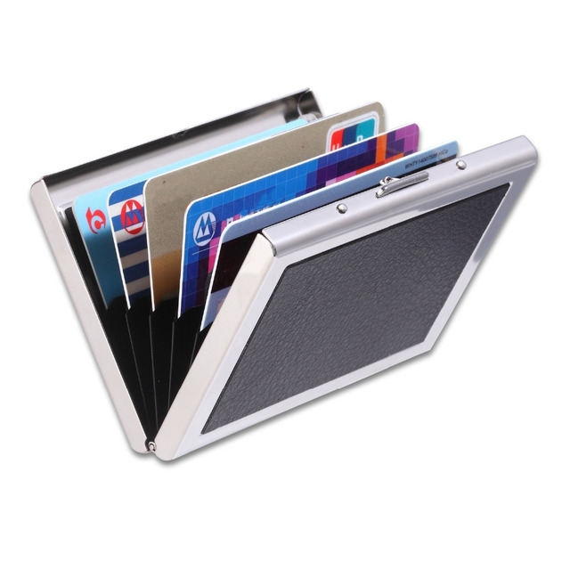 Credit Card Holder Organizer Identity Thieves Smooth Sleek Rfid